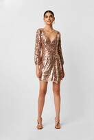 French Connection Elli Sequin Long Sleeve Dress