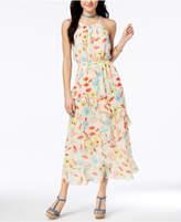 Speechless Juniors' Printed Ruffled Maxi Dress
