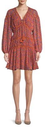 Rebecca Minkoff Caden Printed Long-Sleeve Dress