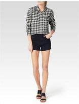 Paige Trudy Shirt - Black/White Lancaster Plaid
