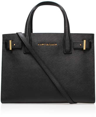 Kurt Geiger SAFFIANO LONDON TOTE in BLACK