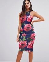 AX Paris Floral Printed Midi Bodycon Dress