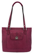 B. Makowsky As Is Luxe Cobra Embossed Leather Tote