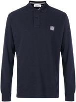Stone Island logo patch polo shirt - men - Cotton - L