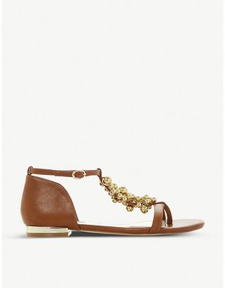 Dune Hobart 2 faux-leather T-bar sandals