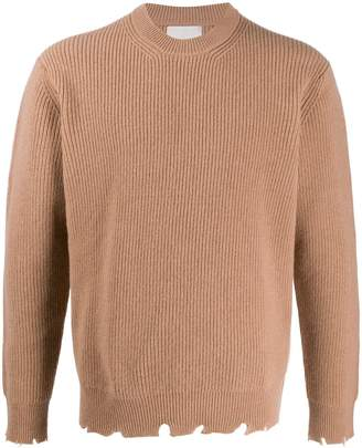 Laneus distressed knitted jumper