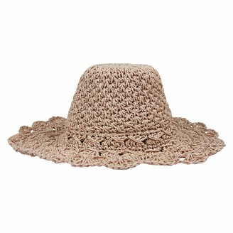 By Neki Womens Straw Sun Hat Foldable Crushable Packable Wide Brim Floppy Summer Beach UV Protection Sun Visor UK Pink