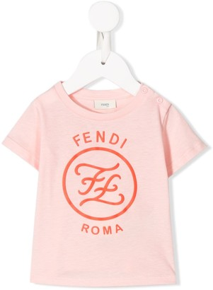 Fendi Kids logo print T-shirt