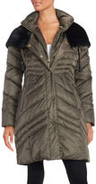 Via Spiga Faux Fur Hooded Puffer Coat