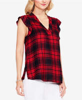 Vince Camuto TWO By Plaid Top