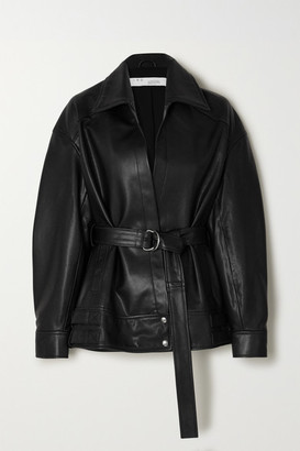 IRO Howell Belted Leather Jacket - Black