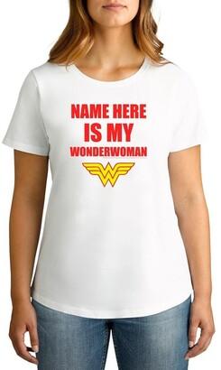 Twidla Personalised T Shirts TWIDLA Personalised T-shirts Women's Valentine's Day My Wonder Woman Personalised Cotton T-Shirt
