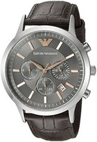 Emporio Armani Men's AR2513 Dress Black Leather Watch