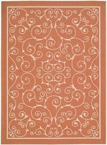 Nourison 11206 Home & Garden Area Rug Collection Orange 5 ft 3 in. x 7 ft 5 in. Rectangle