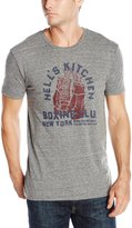Lucky Brand Men's Hells Boxing Graphic Tee, Heather Grey