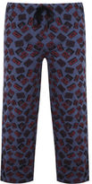 Yours Clothing BadRhino Mens Plus Size Marl Cassette Tape Print Loungewear Bottoms Trousers