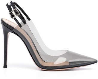 Gianvito Rossi Plexiglass-Detail Stiletto Sandals