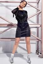 boohoo Premium Petite Ivy Studded PU Mini Skirt