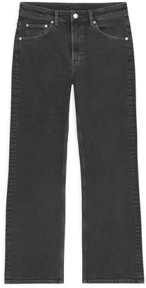 Arket FLARED Stretch Cropped Jeans