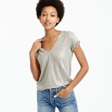 J.Crew New linen T-shirt in metallic