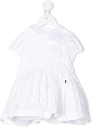 Simonetta Textured Bow Trim Dress