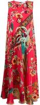 RED Valentino Birds of Paradise-print silk dress