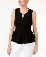 Thalia Sodi Embellished Peplum Top, Created for Macy's