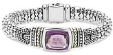 Lagos 18K Gold and Sterling Silver Caviar Color Bracelet with Amethyst
