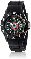 Crayo Women's 'Shrine' Quartz Plastic and Silicone Watch, Color:Black (Model: CRACR3101)