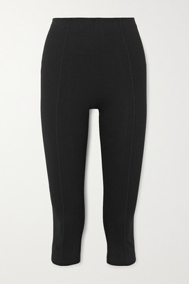 Ninety Percent Cropped Stretch Organic Cotton-jersey Pants - Black