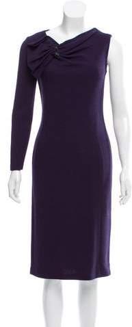 Armani Collezioni Embellished Asymmetrical Dress