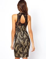 Lipsy Lace Dress with Open Back