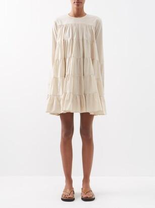 Merlette New York Soliman Tiered Cotton-voile Dress - Beige