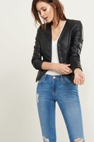 Dynamite Open Faux Leather Jacket