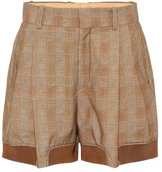 Chloé Checked stretch-cotton shorts