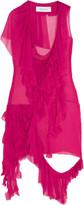Marques Almeida Marques' Almeida Ruffled silk-chiffon dress