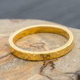 Jacqueline & Edward Hand Panned British Lightly Hammered 18ct Eco Gold Ring