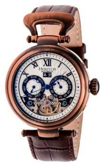 Heritor Automatic Ganzi Bronze Leather Watches 44mm