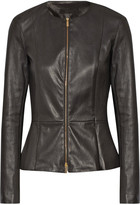 The Row Anasta Stretch-leather Jacket - Black