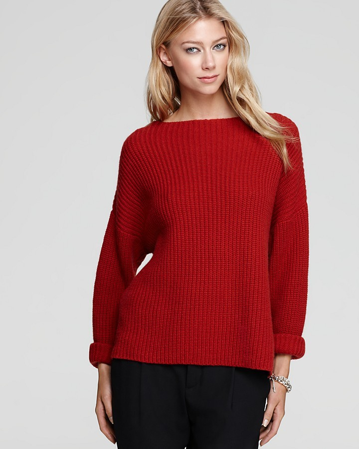 Vince Sweater - Ribbed Boat Neck