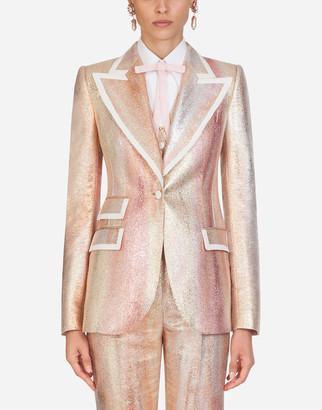 Dolce & Gabbana Single-Breasted Lame Jacquard Jacket