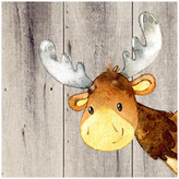 """Americanflat Woodland Friends Wild Animal Deer Square, 10""""H x 10""""W x 0.1""""D"""