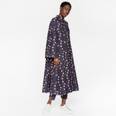 Paul Smith Women's Navy Cotton Trapeze Coat With 'Daisy-Chain' Print