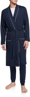 Derek Rose Men's Basel 1 Jersey Robe w/ Piping