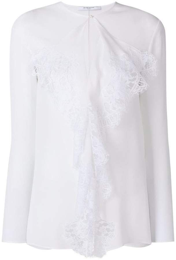 Givenchy lace trim blouse