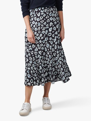 Lily & Lionel Lottie Abstract Spot Print Midi Skirt, Navy