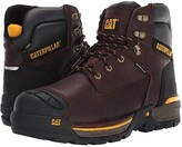 Caterpillar 6 Excavator LT Waterproof Soft Toe (Espresso Full Grain Leather) Men's Work Boots