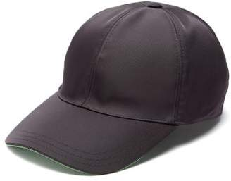 Prada Logo-applique Nylon Cap - Mens - Black Green