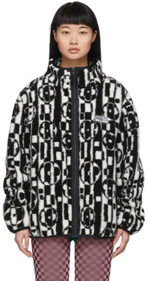 Ashley Williams Black and White Fleece Juju Jacket