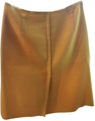 Prada Yellow Wool Skirt for Women Vintage